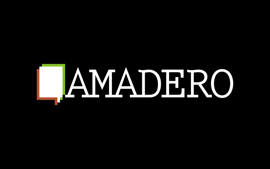 Amadero - logo on black