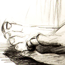 Feet - drawing